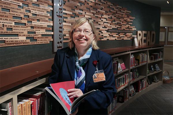 Martha Earl, director of Preston Medical Library