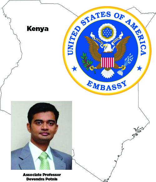 Devendra Potnis, US Embassy Seal, Kenya