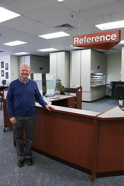 Mark Dickey ORNL reference librarian