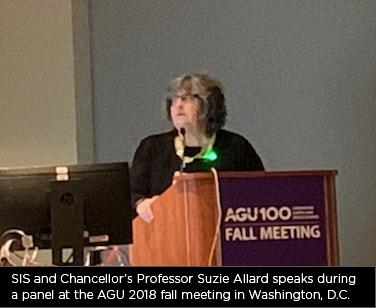 SIS Professor Suzie Allard at AGU