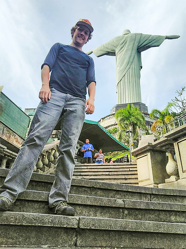 MSIS student Josh Borcyz in Brazil