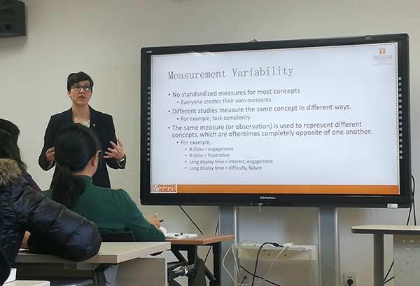 SIS Director Diane Kelly teaching in China