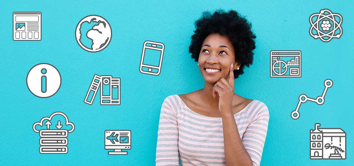 Woman Exploring Various Information Sciences Career Options